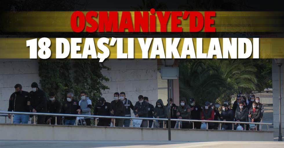 Osmaniye'de 18 DEAŞ'lı yakalandı