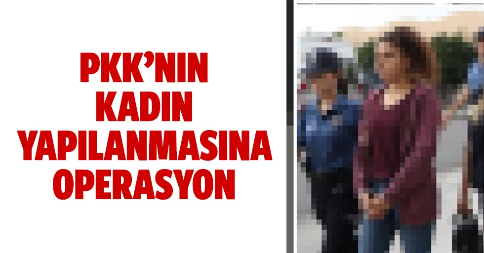 PKK'nın kadın yapılanmasına operasyon