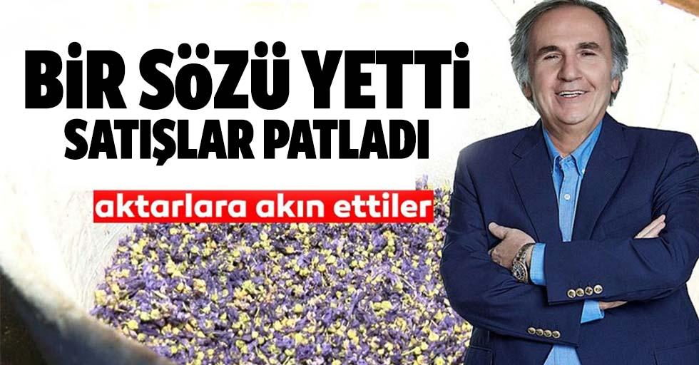 Prof. Dr. İbrahim Saraçoğlu'nun sözleri sonrası satışlar 1 günde 10 katına çıktı!