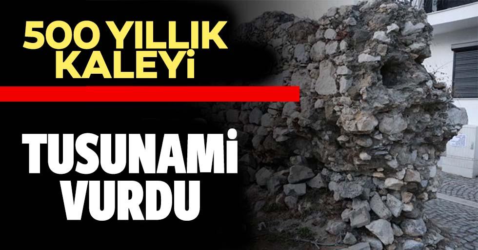 Tsunaminin vurduğu Sığacık'taki 500 yıllık Osmanlı kalesi zarar gördü