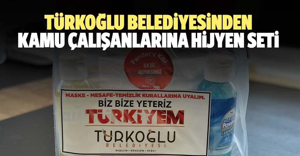 Türkoğlu belediyesinden kamu çalışanlarına hijyen seti