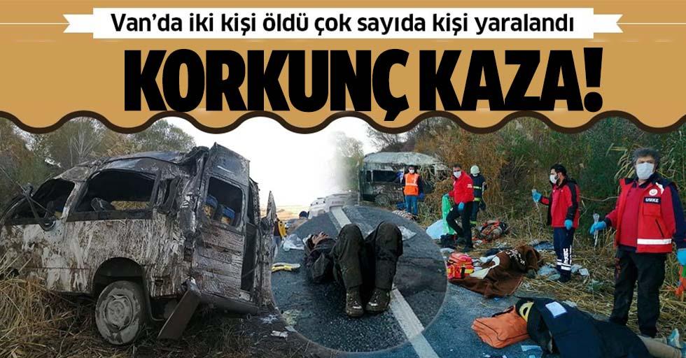 Van'da minibüs kazası: Ölü ve yaralılar var