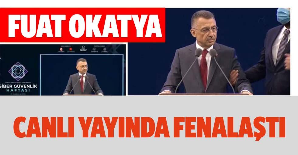 Cumhurbaşkanı Yardımcısı Fuat Oktay konuşması sırasında fenalaştı! İlk açıklama geldi