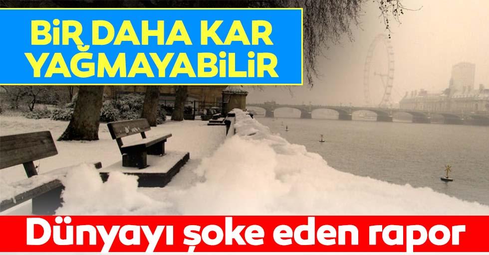 Dünyayı tedirgin eden araştırma raporu: Bir daha kar yağmayabilir