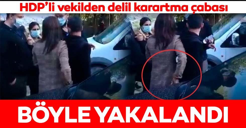 HDP'li vekil örgüt üyesinin telefonunu aldı