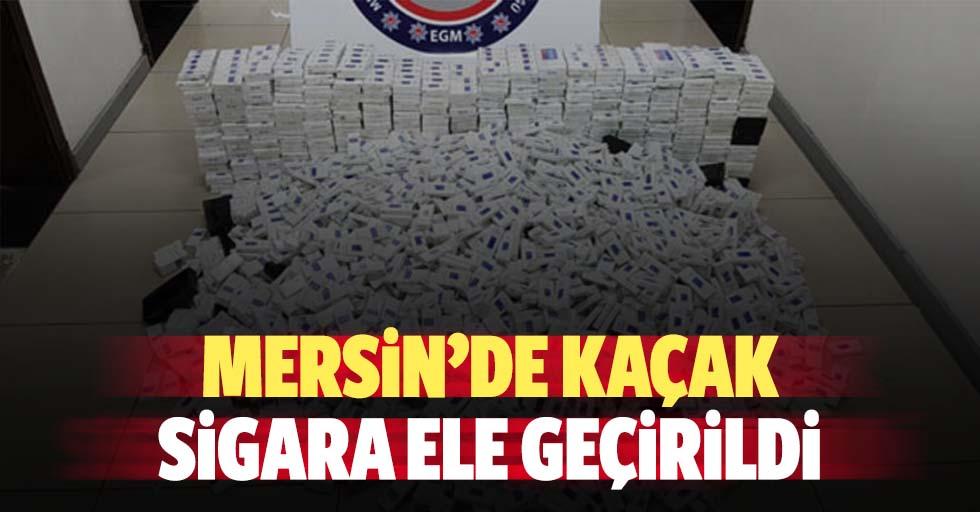 Mersin'de kaçak sigara ele geçirildi