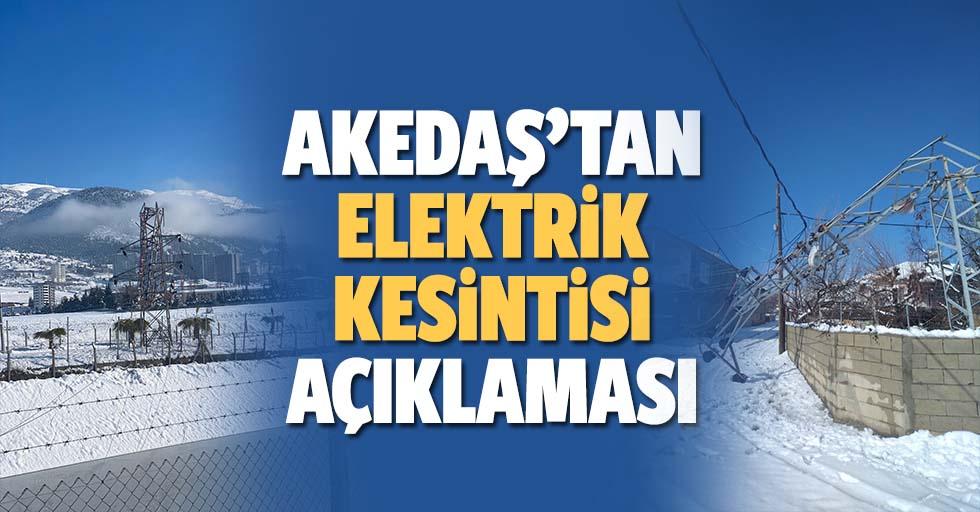 AKEDAŞ'tan elektrik kesintisi açıklaması