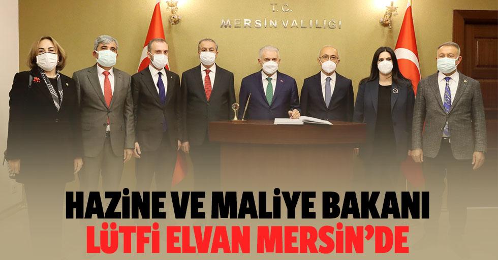 Hazine ve Maliye Bakanı Lütfi Elvan Mersin'de