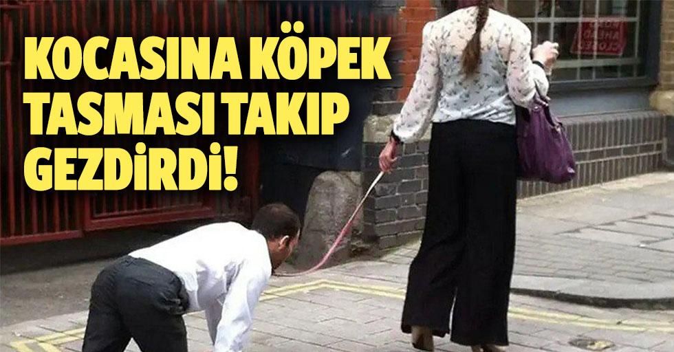 Kocasına Köpek Tasması Takıp Gezdirdi!