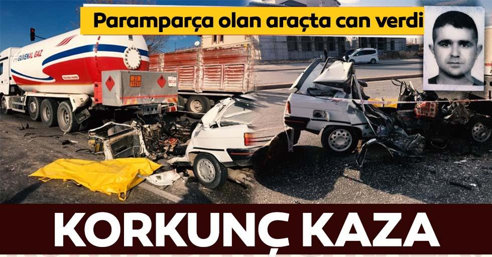 Konya'da feci kaza! Otomobil yakıt tankerine çarptı: 1 ölü