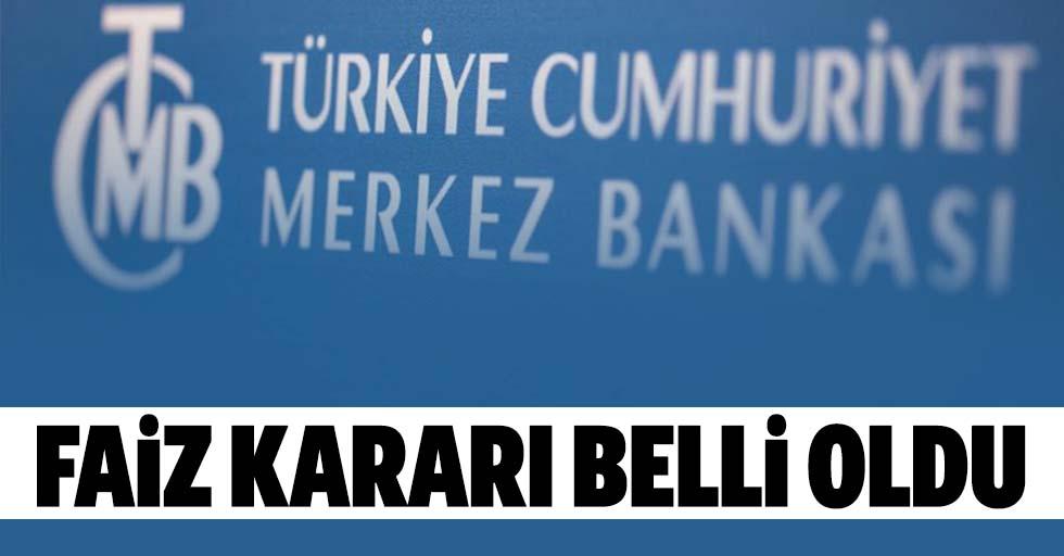 Merkez Bankası'nın yılın ilk faiz kararı belli oldu!