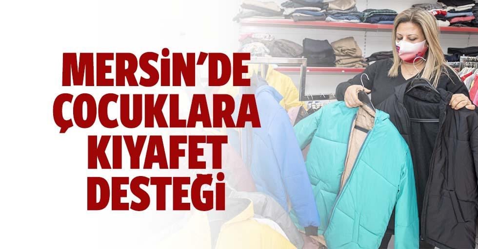 Mersin'de çocuklara kıyafet desteği