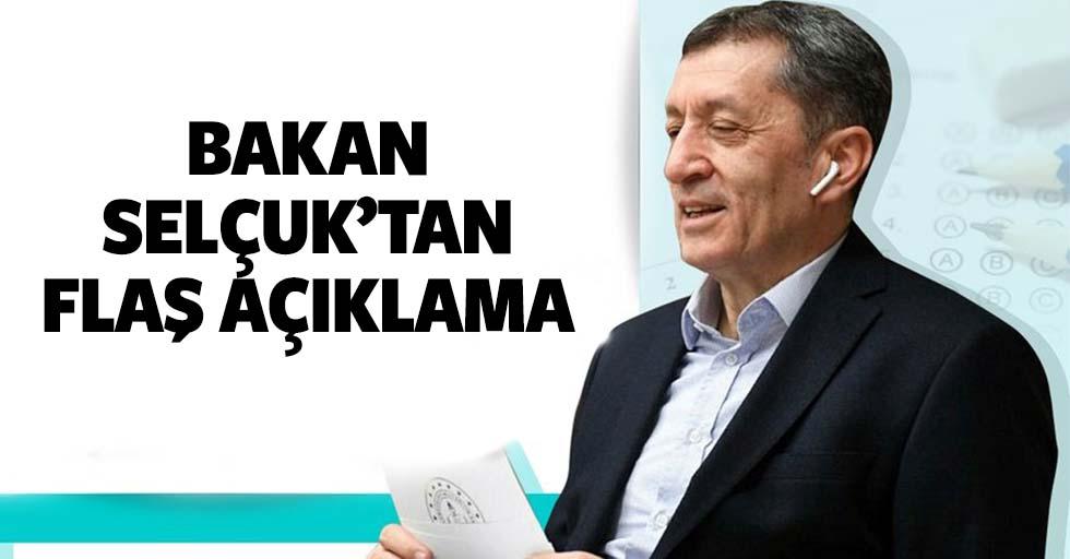 Milli Eğitim Bakanı Selçuk'tan yüz yüze eğitim için çarpıcı sözler