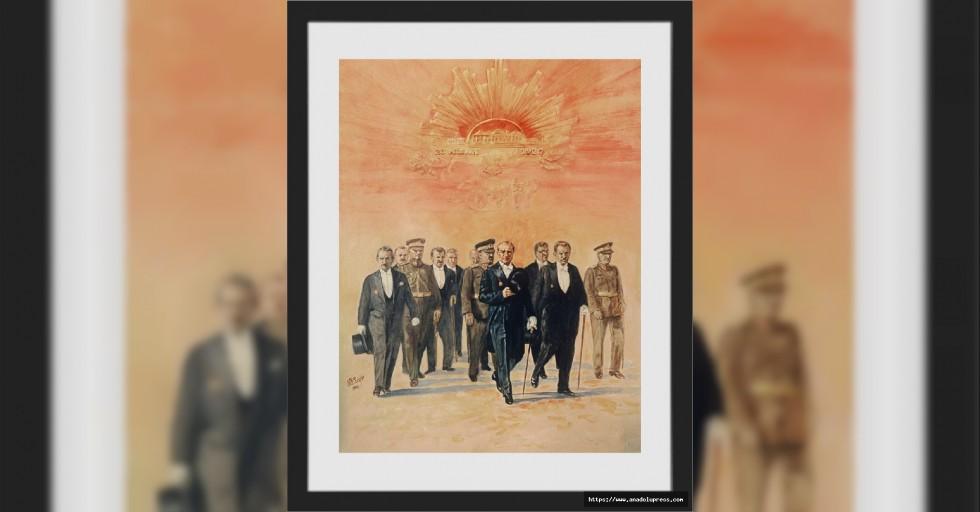 Sanko Sanat Galerisi'nde Atatürk Portreleri Sergisi Açıldı