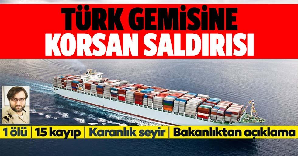 Türk gemisine korsan saldırısı