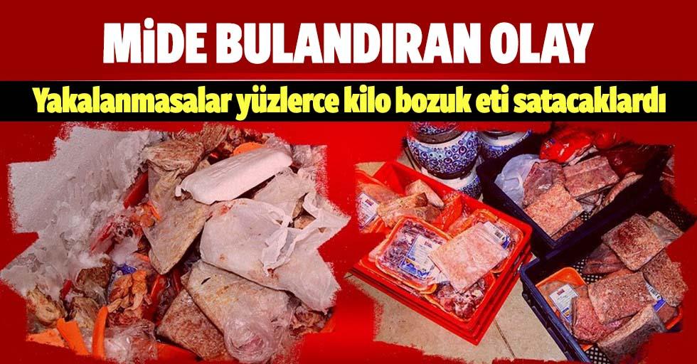 Adana'da mide bulandıran olay! Yüzlerce kilo bozuk eti satışa çıkarmışlar