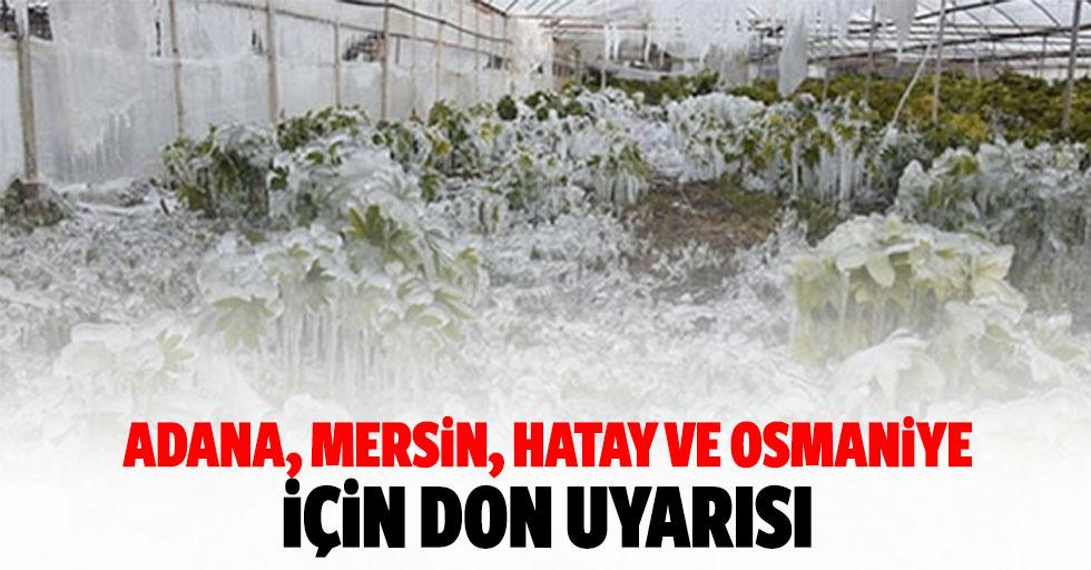 Adana, Mersin, Hatay ve Osmaniye İçin Don Uyarısı
