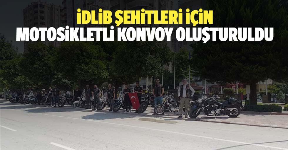 İdlib şehitleri için motosikletli konvoy oluşturuldu
