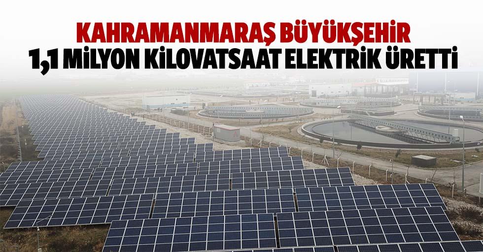 Kahramanmaraş Büyükşehir 1,1 milyon kilovatsaat elektrik üretti