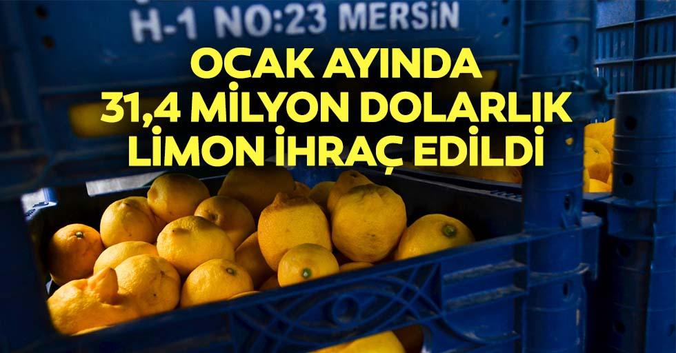Ocak ayında 31,4 milyon dolarlık limon ihraç edildi