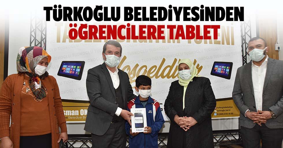 Türkoğlu Belediyesinden öğrencilere tablet
