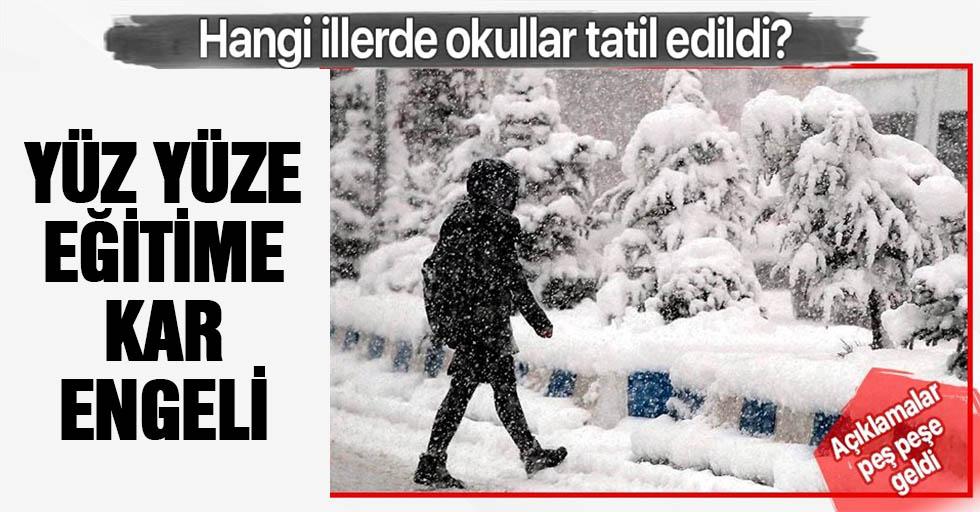 Yüz yüze eğitime kar engeli! O illerde okullar tatil edildi...