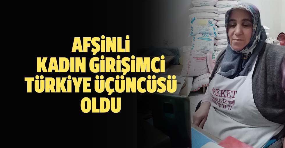 Afşinli kadın girişimci Türkiye üçüncüsü oldu