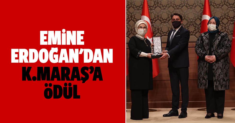 Emine Erdoğan'dan Kahramanmaraş'a Ödül