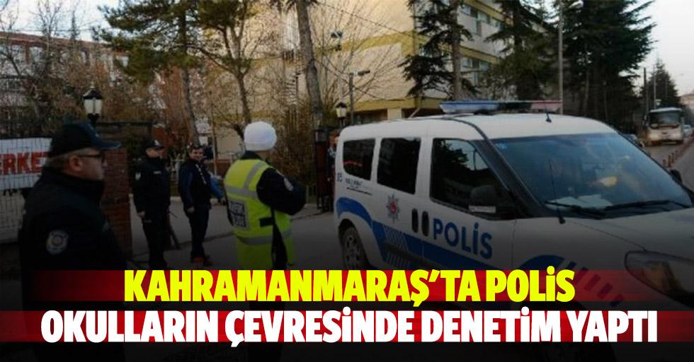 Kahramanmaraş'ta polis okulların çevresinde denetim yaptı