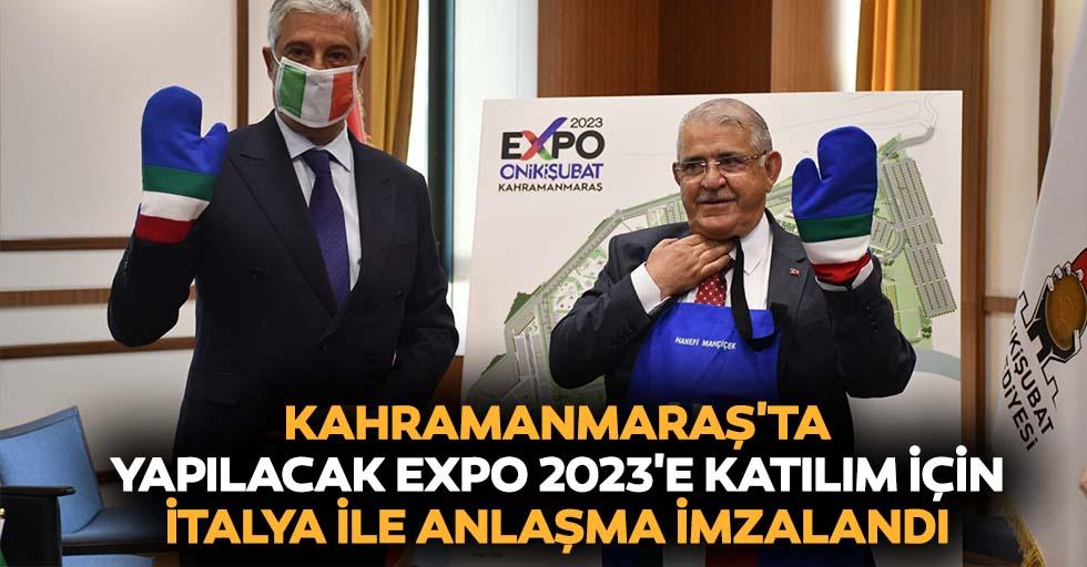 Kahramanmaraş'ta Yapılacak Expo 2023'e Katılım İçin İtalya İle Anlaşma İmzalandı