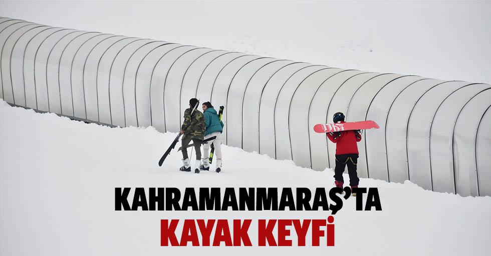 Kahramanmaraş'ta kayak keyfi
