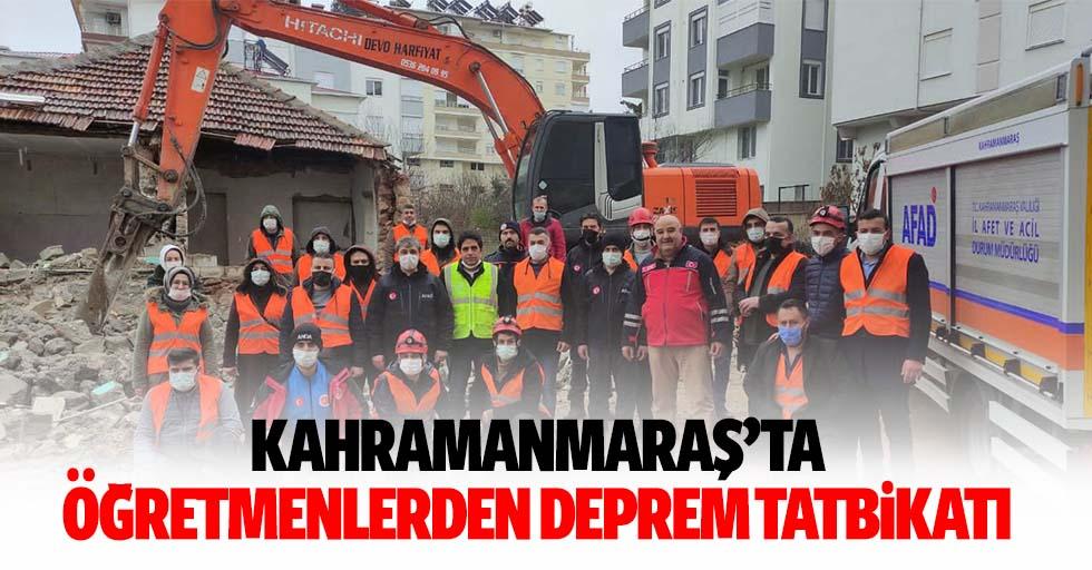 Kahramanmaraş'ta öğretmenlerden deprem tatbikatı