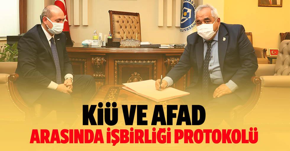 KİÜ ve AFAD arasında işbirliği protokolü