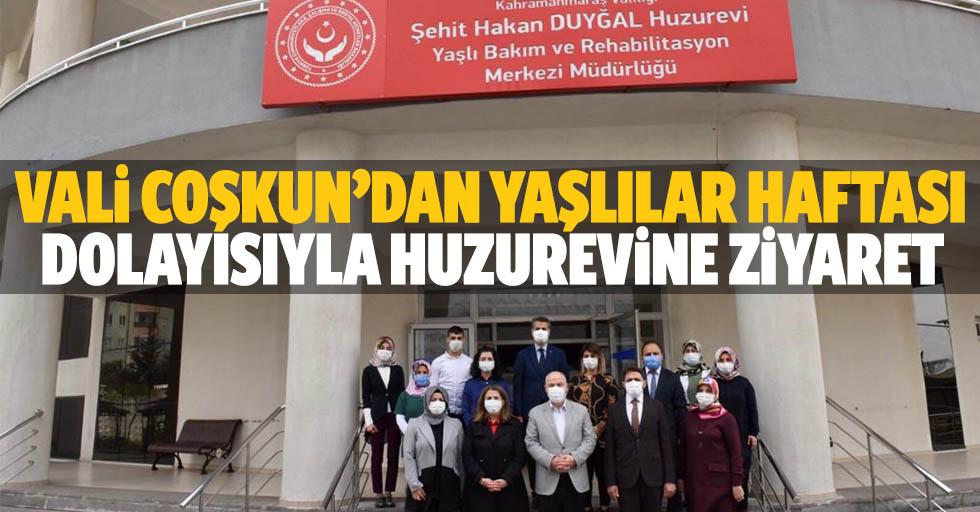 Vali Coşkun'dan Yaşlılar Haftası Dolayısıyla Huzurevine Ziyaret