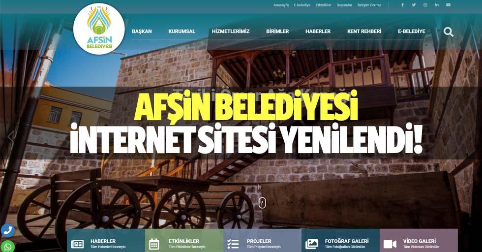Afşin belediyesi internet sitesi yenilendi!