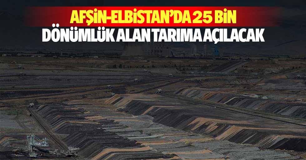 Afşin-Elbistan'da 25 Bin Dönümlük Alan Tarıma Açılacak