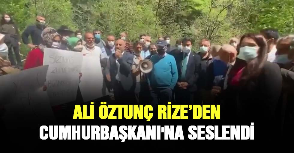 Ali Öztunç Cumhurbaşkanı'na Seslendi̇
