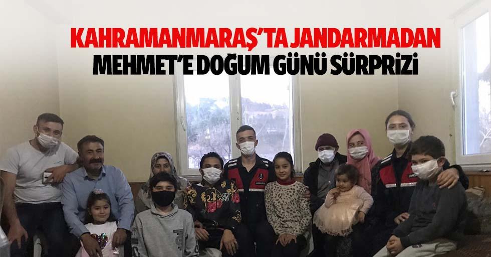 Kahramanmaraş'ta jandarmadan Mehmet'e doğum günü sürprizi