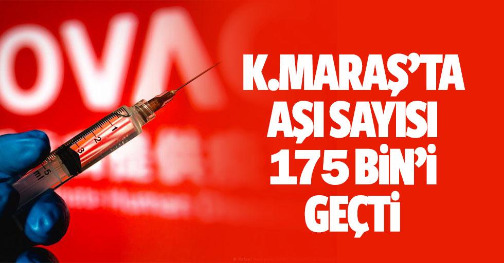 Kahramanmaraş'ta aşı sayısı 175 bin'i geçti