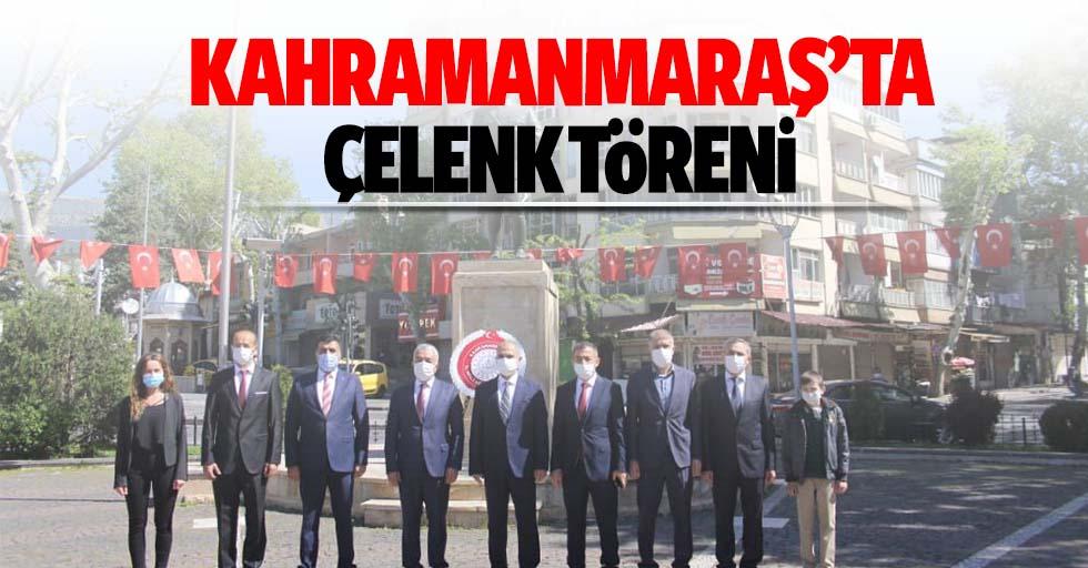 Kahramanmaraş'ta çelenk töreni