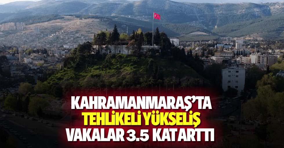 Kahramanmaraş'ta tehlikeli yükseliş! Vakalar 3.5 kat arttı