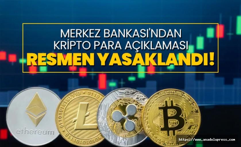 Merkez Bankası'ndan kripto para yasağı
