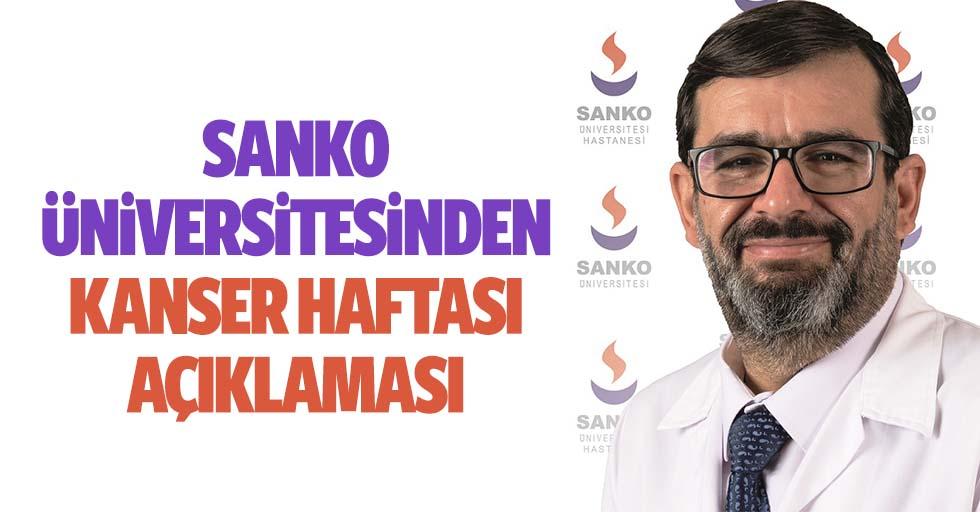 Sanko Üniversitesinden Kanser Haftası Açıklaması