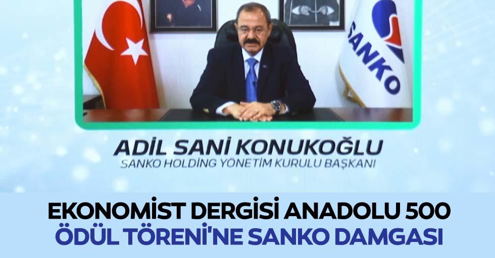 Ekonomist Dergisi Anadolu 500 Ödül Töreni'ne Sanko Damgası
