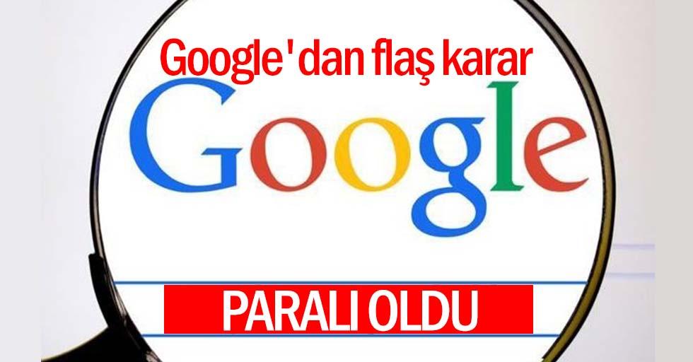 İnternet devi Google'dan flaş karar