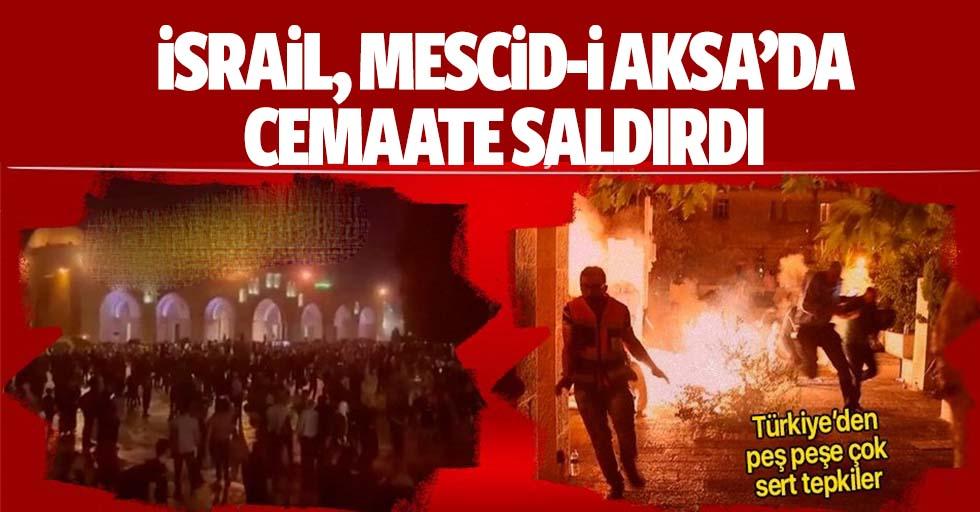 İsrail, Mescid-İ Aksa'da Cemaate Saldırdı