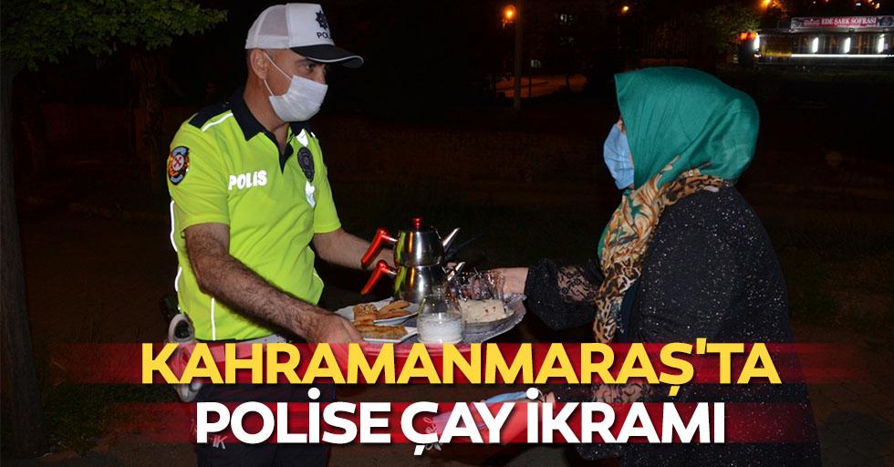Kahramanmaraş'ta polise çay ikramı