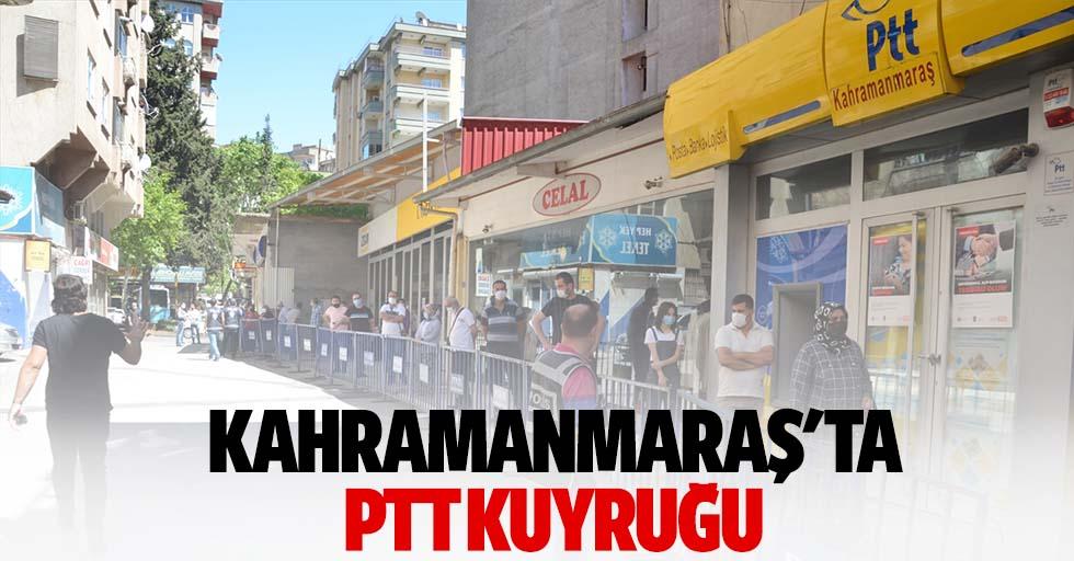 Kahramanmaraş'ta PTT kuyruğu