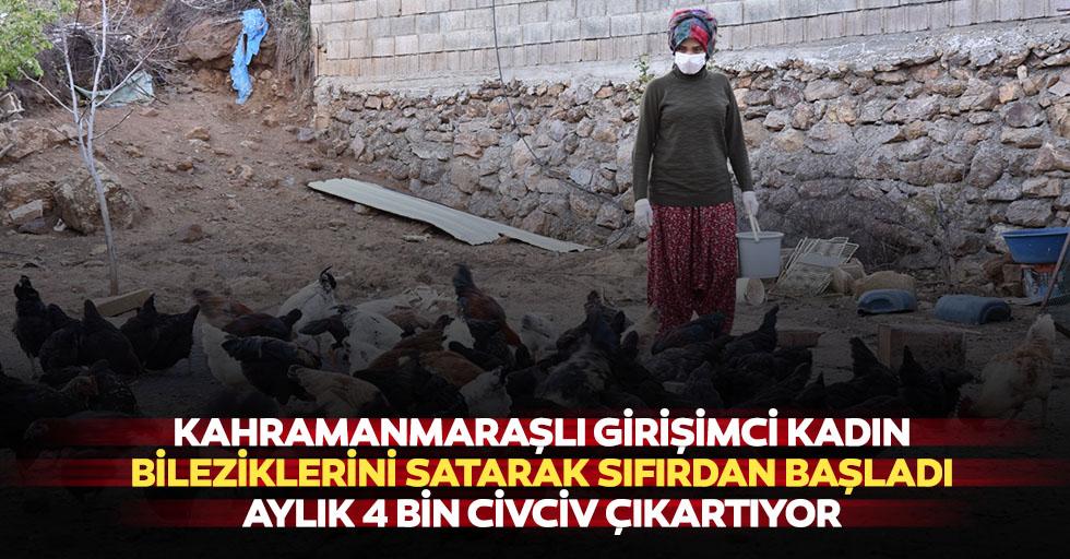 Kahramanmaraşlı Girişimci Kadın Bileziklerini Satarak Sıfırdan Başladı, Aylık 4 Bin Civciv Çıkartıyor