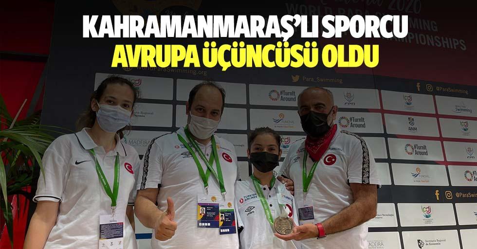 Kahramanmaraş'lı sporcu Avrupa üçüncüsü oldu